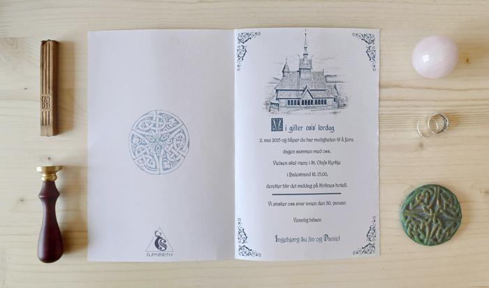 invitación boda estilo vikingo