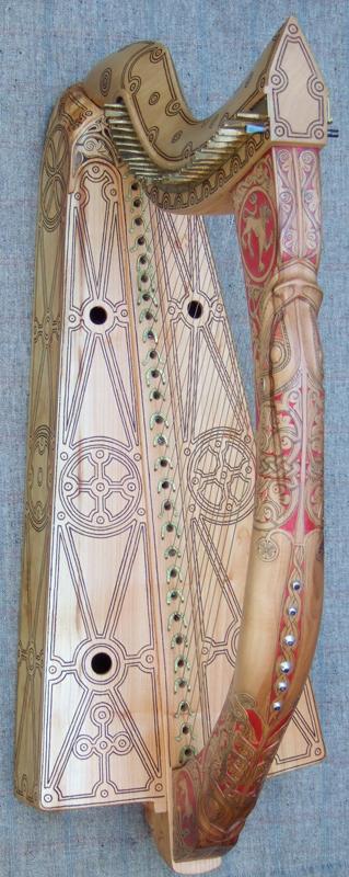 replica del arpa de Mary Queen