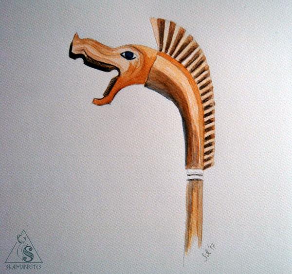 carnyx celta ilustración Silvia Salas