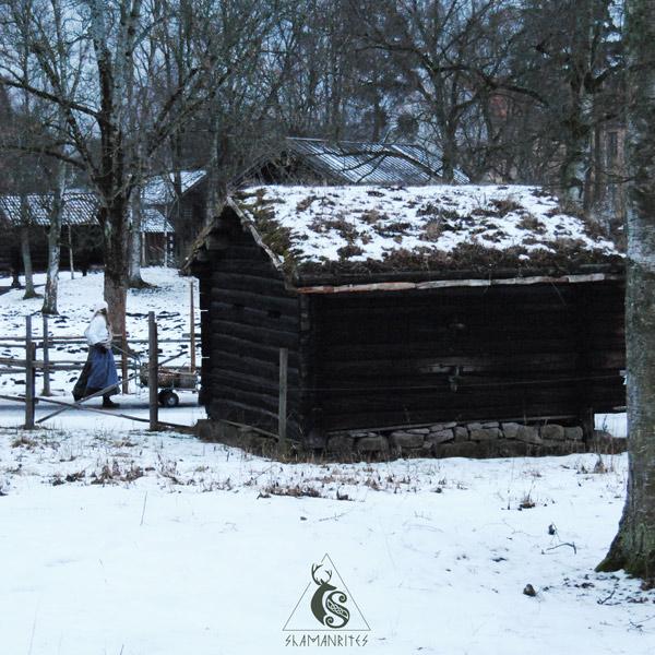 museo de folklore noruego casa techo césped