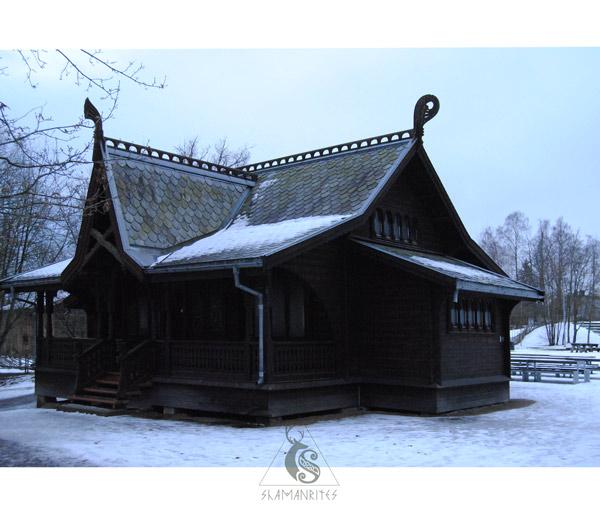 museo de folklore noruego casa madera 3