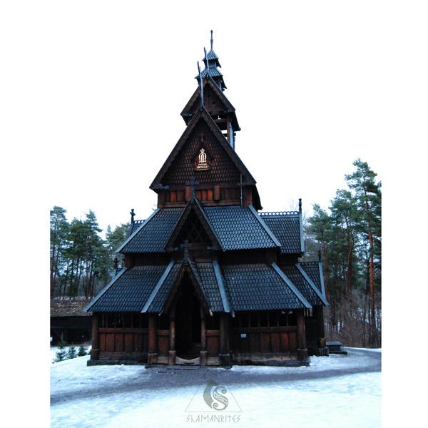 museo de folklore noruego iglesia de gol frontal