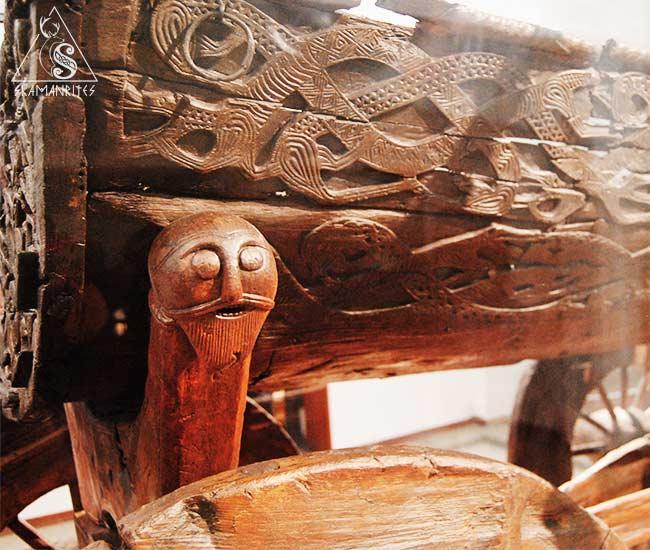 carro del museo de barcos vikingos de Oslo