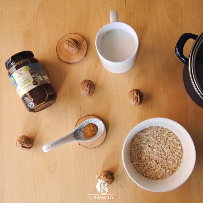 ingredientes para preparar un porridge tradicional