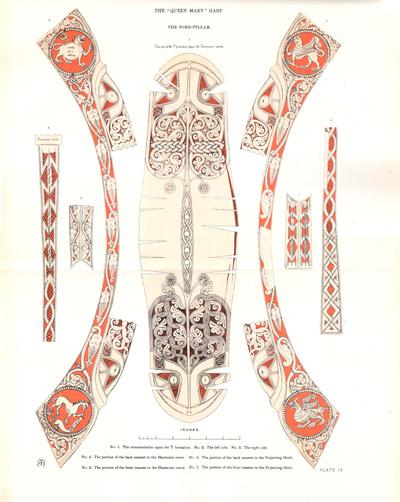 Queen Mary Harp detalle