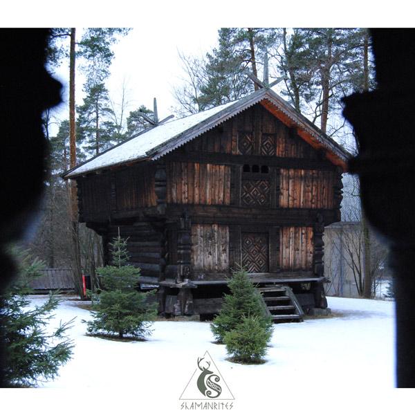 museo de folklore noruego casa madera